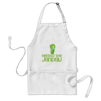 just handle the jandal! KIWI New Zealand funny say Standard Apron
