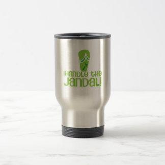 just handle the jandal! KIWI New Zealand funny say Travel Mug