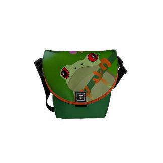 Just Hanging Around Frog Messenger Bag