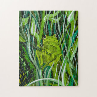 Just Hanging Around Frog Puzzle