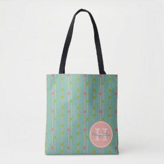Just Happy Dots on Strings Monogram Tote Bag