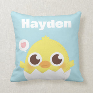 Just Hatched Baby Chick Nursery Room Throw Pillow