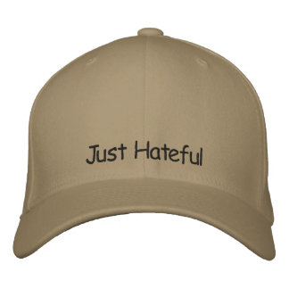 Just Hateful Embroidered Baseball Cap