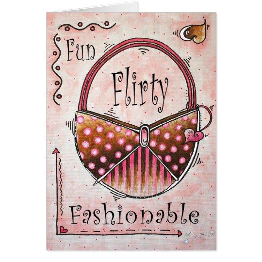 """Just having fun"" Fashionable art by MADART Card"