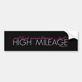 Just High Mileage Bumper Sticker