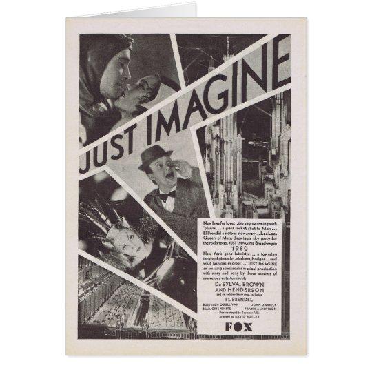 Just Imagine movie ad Card