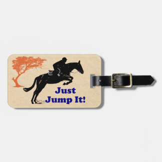 Just Jump It! Horse Luggage Tag