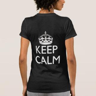 Just Keep Calm Shirt Logo Back