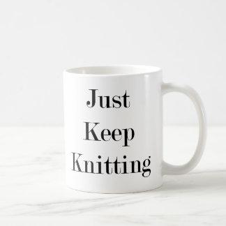 Just Keep Knitting Mug