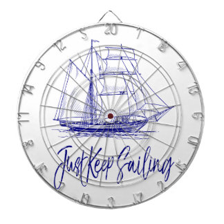 Just Keep Sailing Dartboard