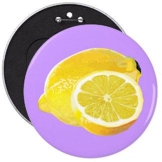Just Lemons 6 Cm Round Badge
