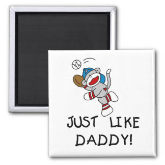 Just Like Daddy Baseball Tshirts and Gifts Square Magnet