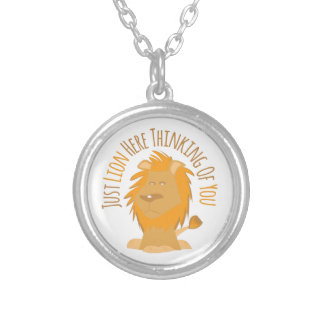 Just Lion Here Thinking Of You Personalized Necklace