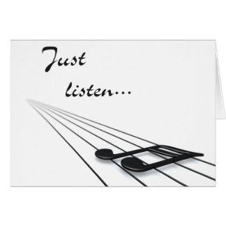 Just listen card