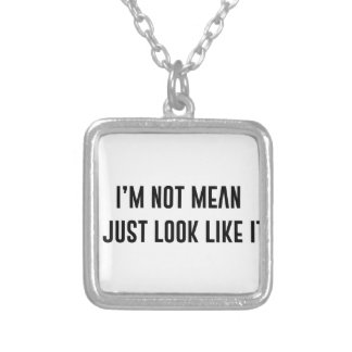 Just Look Mean Silver Plated Necklace