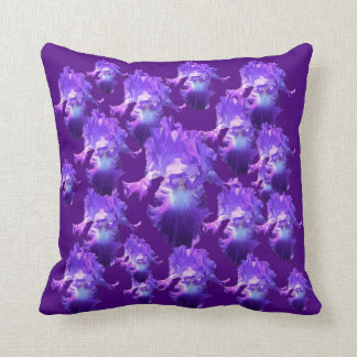 Just Love Purple Iris Flowers Throw Pillow
