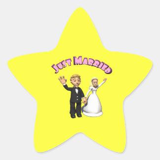 Just Married 2 Star Sticker