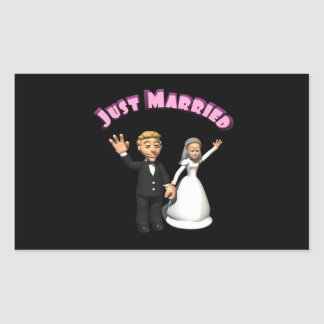 Just Married 2 Rectangular Stickers
