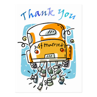 Just Married (2C) Thank You Card Postcard