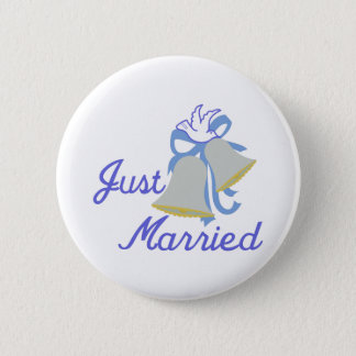 Just Married 6 Cm Round Badge