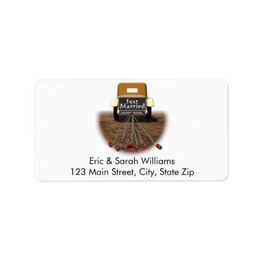 Just Married Address Labels