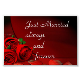 Just Married always and forever Poster