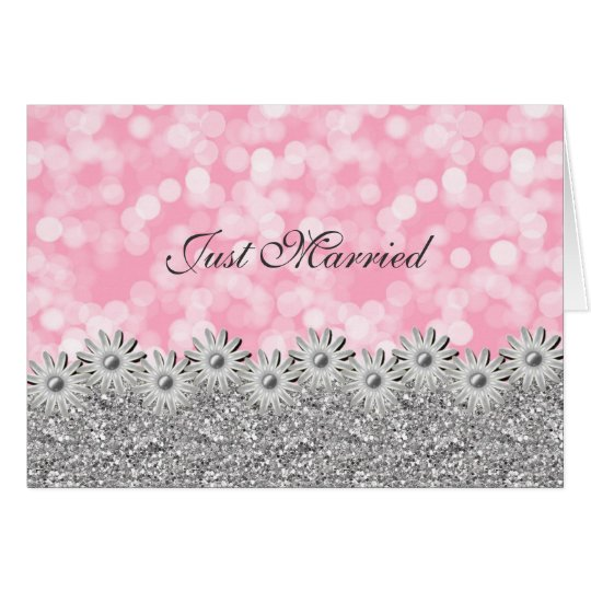 Just Married Announcement Card