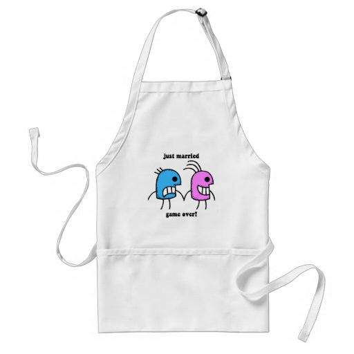 just married aprons