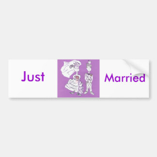Just Married/Bride and Groom Bumper Sticker