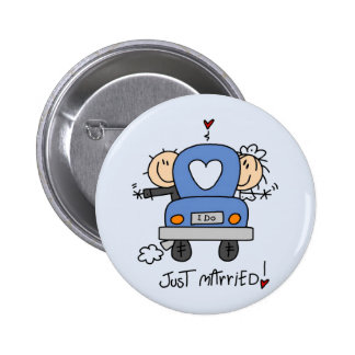 Just Married Bride and Groom T-shirts and Gifts Pin