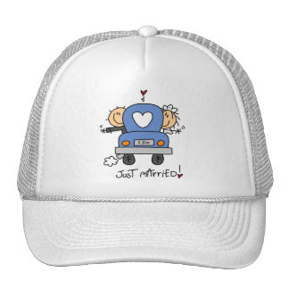 Just Married Bride and Groom T-shirts and Gifts Hats
