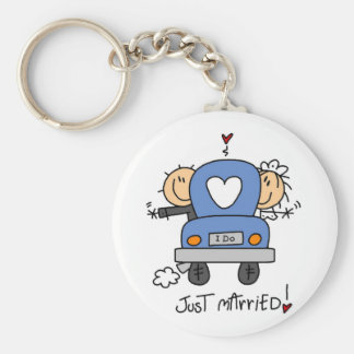 Just Married Bride and Groom T-shirts and Gifts Keychains