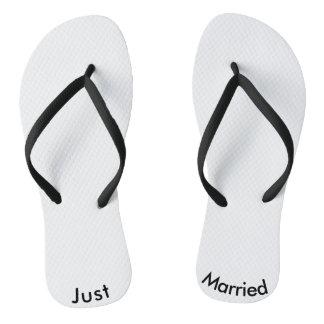 Just Married Bride Groom Flip Flops Wedding Shower Thongs
