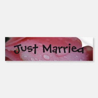 Just Married Bumper Sticker