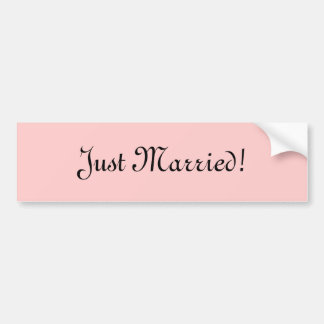 Just Married! Bumper Sticker
