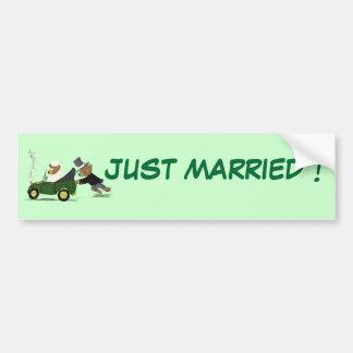 JUST MARRIED ! BUMPER STICKER