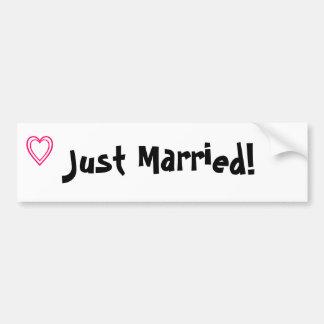 """Just Married!"" bumper sticker"