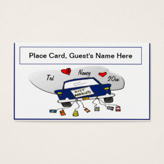 Just Married Car Place Cards