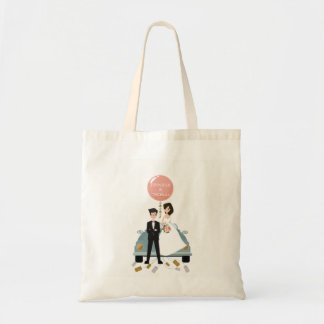 Just married car wedding bag. tote bag