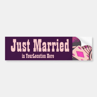 Just Married Casino Gambler Bumper Sticker