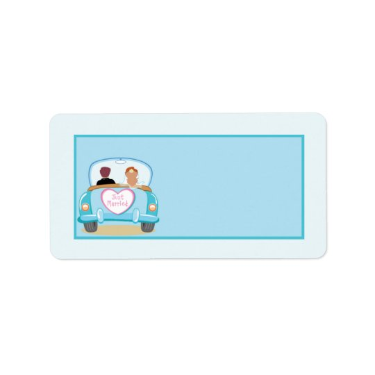 Just Married Classic Car Wedding Mailing Address Label