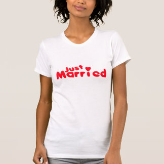 Just Married Couple Shirt for Women