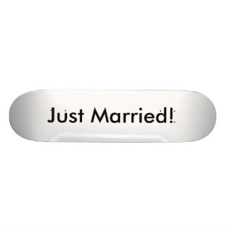 Just Married! Custom Skateboard