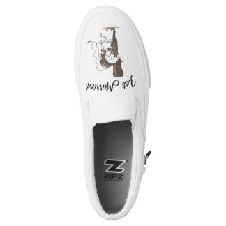 Just Married Custom Zipz Slip On Shoes Printed Shoes