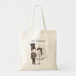 Just Married Cute Bride Groom Wedding Gifts Bag