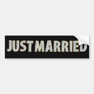 Just Married Diamond Bumper Sticker