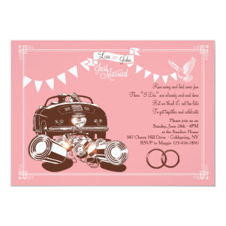 Just Married Elopement Party Invitations
