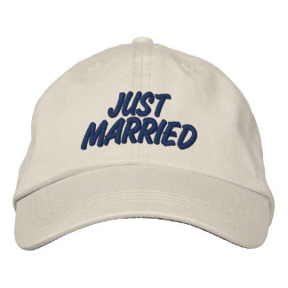 Just Married Embroidered Cap