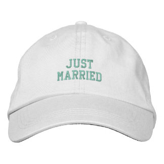 Just Married! Embroidered Hats