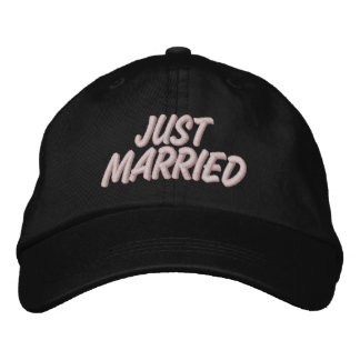 Just Married Embroidered Hat